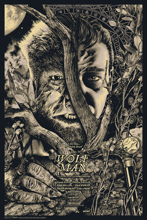 the wolf man variant anthony petrie alternative movie poster