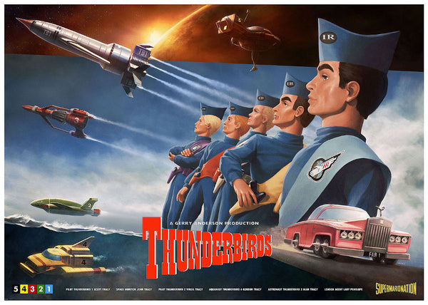 Thunderbirds Henrik Sahlstrom Limited Edition Art Print