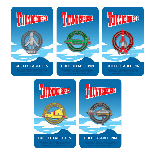 thunderbirds collectable collectible enamel pin badge set Florey