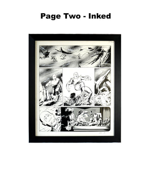 Badlander (Unpublished Alan Moore 2000 AD Story) Original Pages