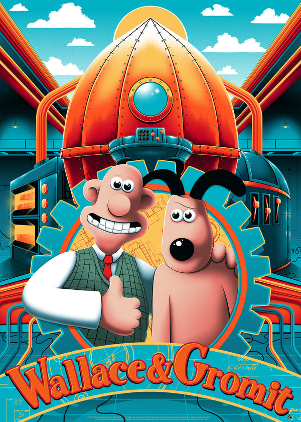 Wallace and Gromit Art Print Poster Arno Kiss