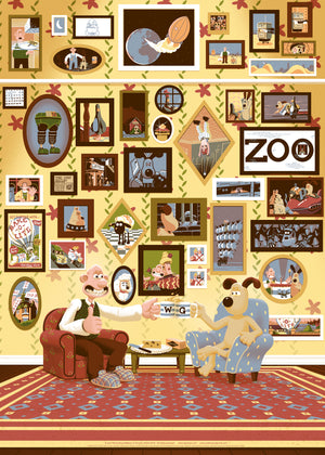 Wallace and Gromit Art Print Poster George Bletsis