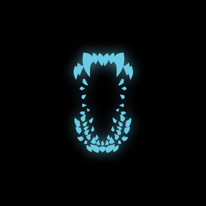 Attack the block enamel pin glow florey
