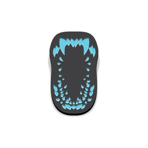 Attack the block enamel pin florey