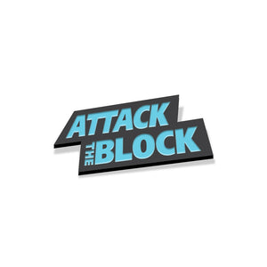 Attack the block enamel pin logo florey