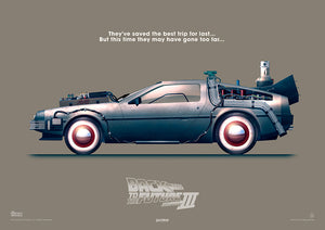 back to the future part iii delorean art print rodrigo barraza