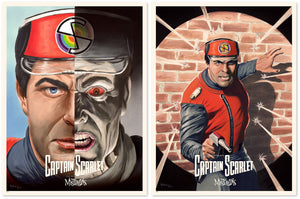 captain scarlet black dan orgill limited edition art print