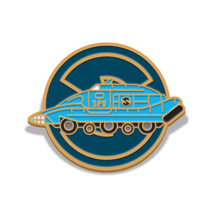 Captain Scarlet Spectrum pursuit vehicle Florey limited edition enamel pin badge
