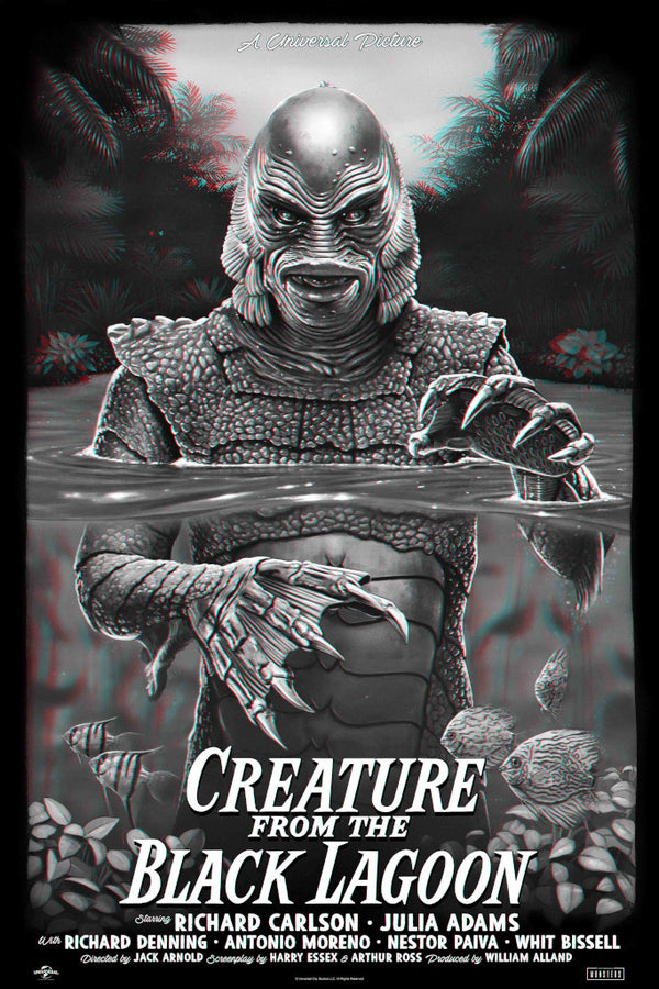 Creature from the black lagoon 3d variant tom walker alternative movie poster