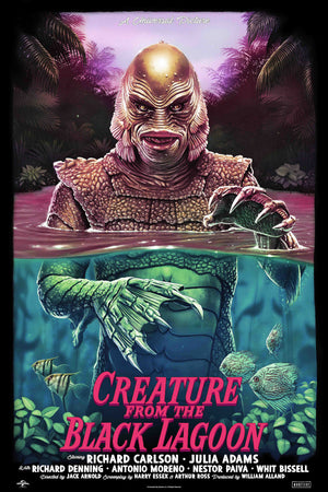 Creature from the black lagoon tom walker alternative movie poster