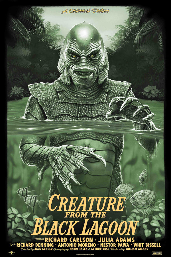 Creature from the black lagoon foil variant tom walker alternative movie poster