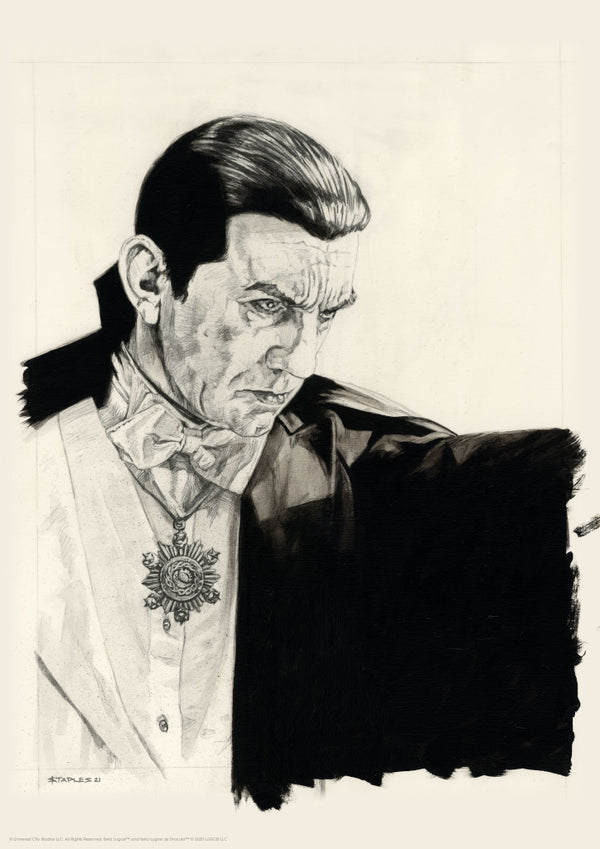 Dracula Original Art Portrait Print Greg Staples Universal Monsters Vice Press