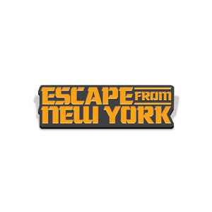 escape from new york logo enamel pin florey vice press