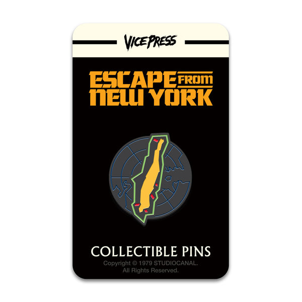 Escape From New York Manhattan Prison Enamel Pin Badge Florey