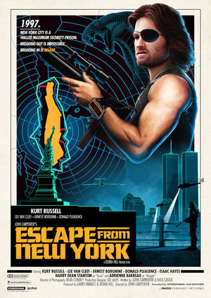 escape from new york alternative movie poster matt ferguson vice press