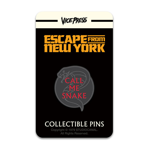 escape from new york call me snake enamel pin badge florey