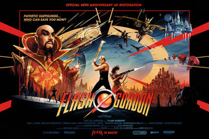 flash gordon gold foil matt ferguson alternative movie poster vice press