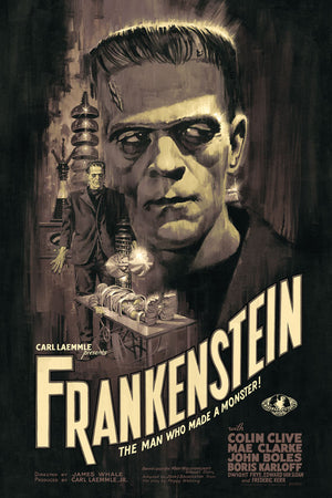 Frankenstein variant Paul Mann Universal Monsters Alternative Movie Poster