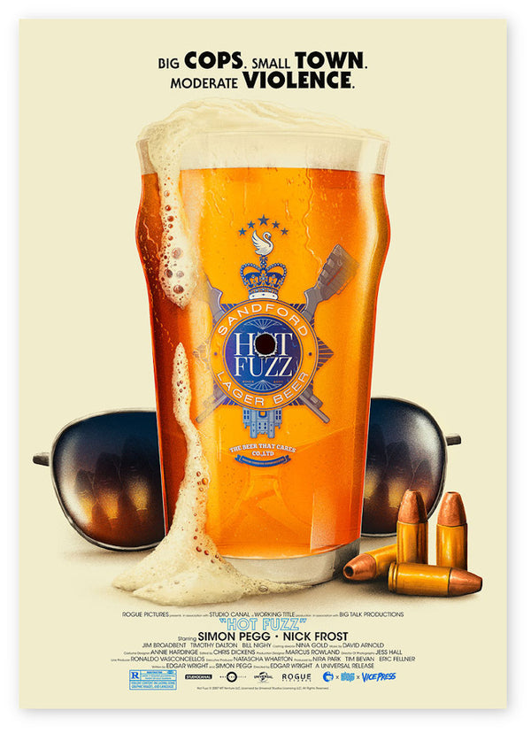 hot fuzz Patrick connan alternative movie posters vice press