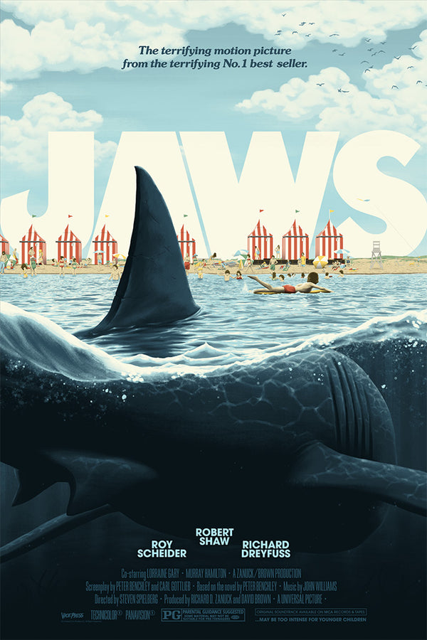 jaws florey alternative movie poster