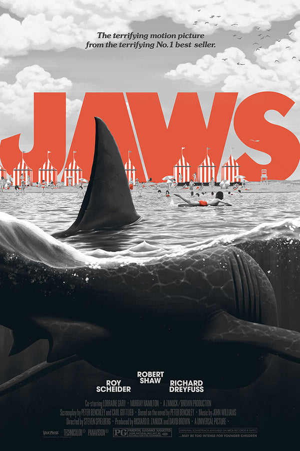 jaws variant florey alternative movie poster
