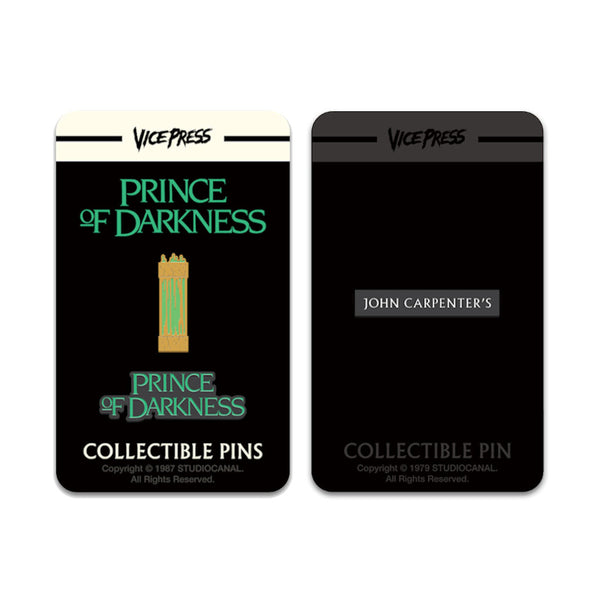 john carpenter prince of darkness enamel pin badge set florey vice press