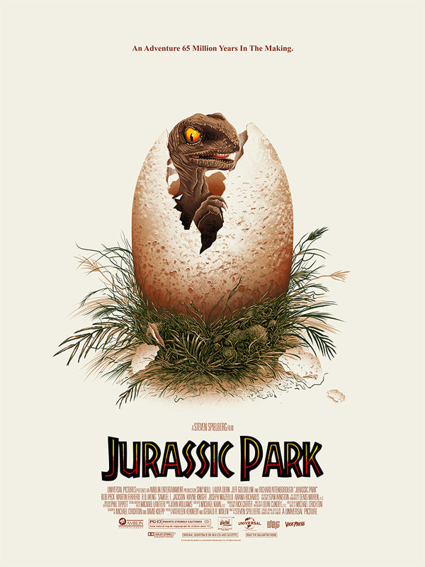 Jurassic Park doaly screen print alternative movie poster