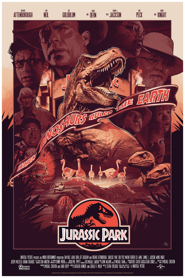 Jurassic Park John Guydo Alternative Movie Poster NYCC Variant