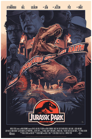Jurassic Park John Guydo Alternative Movie Poster Variant