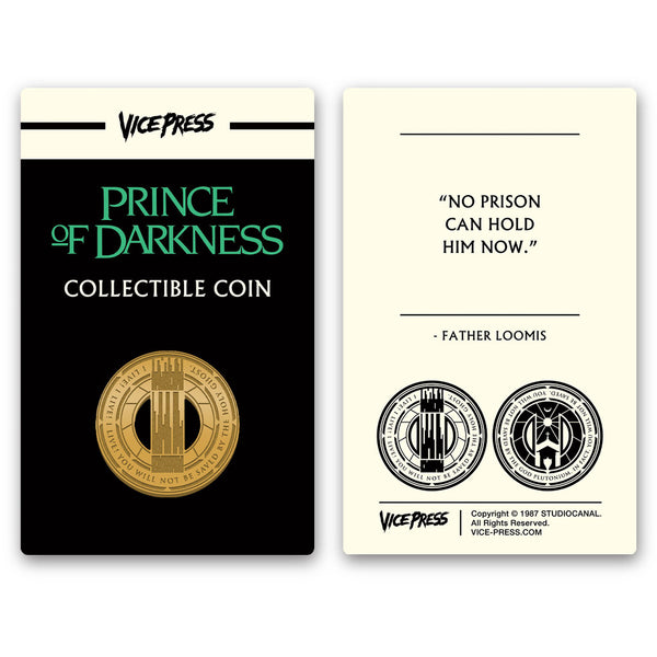 prince of darkness limited edition collector coin florey vice press