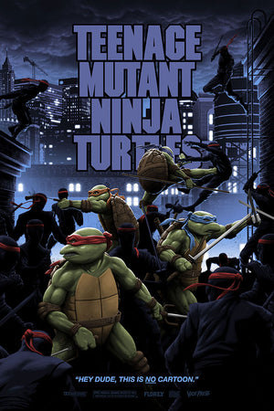 teenage mutant ninja turtles variant florey donatello movie poster