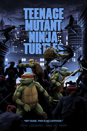 teenage mutant ninja turtles variant florey leonardo movie poster