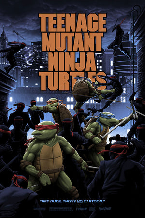 teenage mutant ninja turtles variant florey Michelangelo movie poster