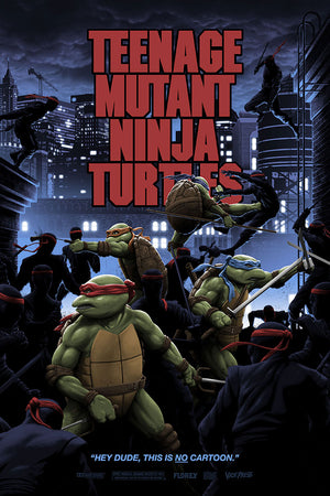 teenage mutant ninja turtles variant florey raphael movie poster