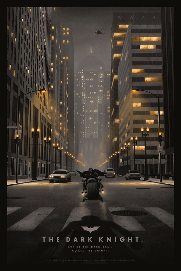 the dark knight Nicholas moegly alternative movie poster