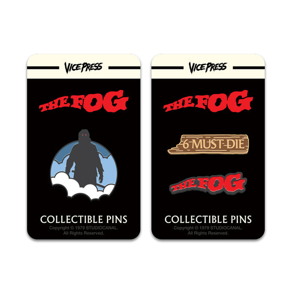 the fog enamel pin badge set florey vice press