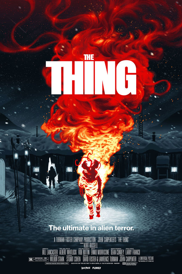The thing florey alternative screen print movie poster