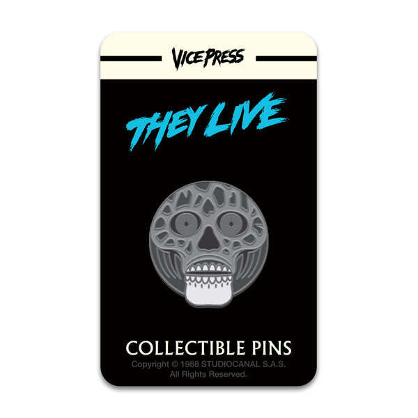 They Live Enamel Pin - Alien Black & White