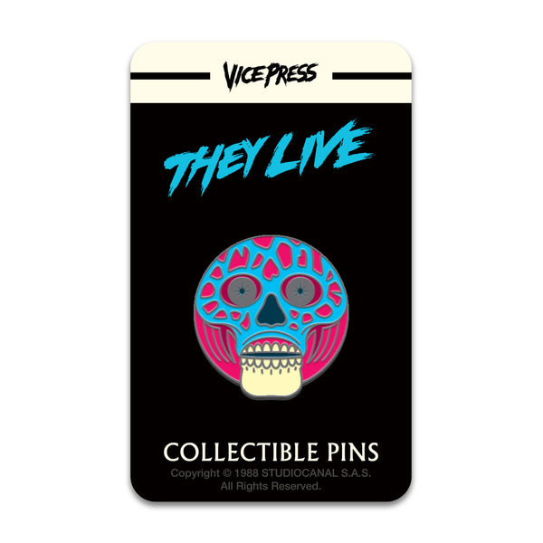 they live alien enamel pin badge florey vice press card