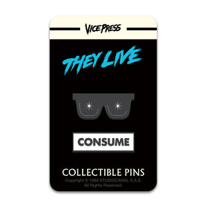 they live consume glasses enamel pin badge set florey