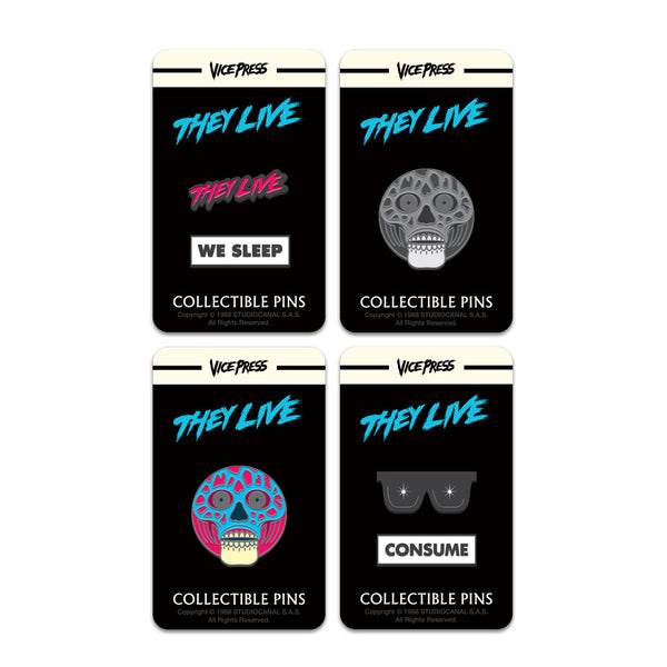 they live enamel pin badge set florey vice press