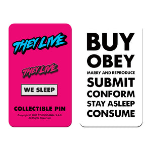 they live we sleep enamel pin badge florey vice press