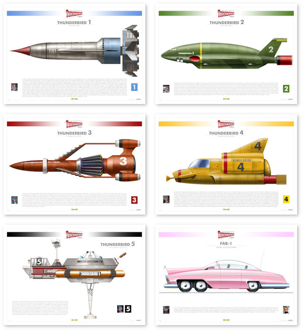 Thunderbirds Infographic Rodrigo Barraza Art Print