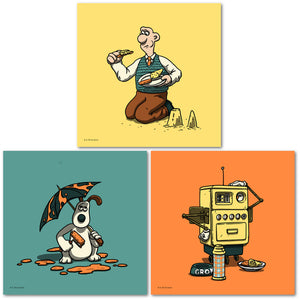 wallace & gromit minis series 1 florey art prints