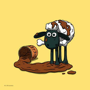 Shaun the sheep mini print by florey