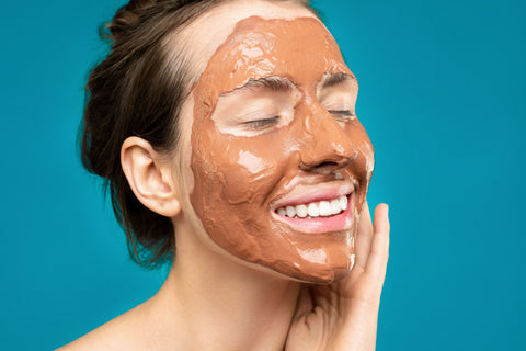 women with clay mask remove pimple blackheads mon cheri