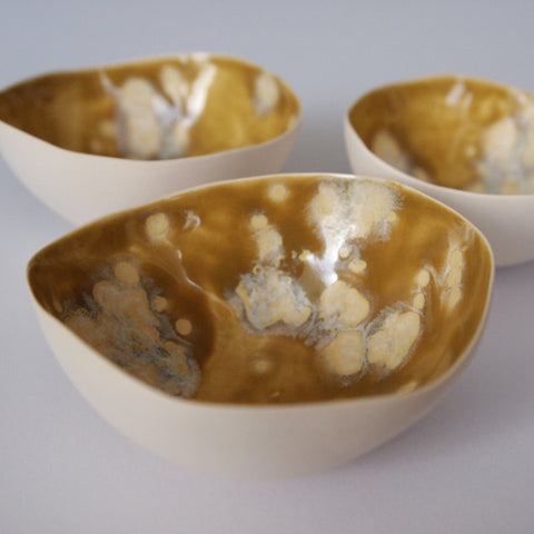 Tea light shell - Antique Gold