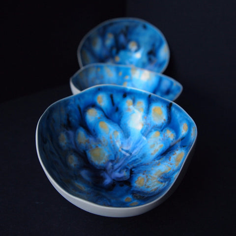 Tea light shell - Mixed up Blue