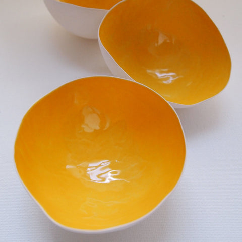 Tea light shell - Yellow