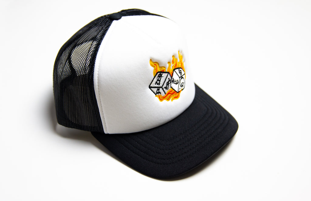 Hot Shooter Trucker Hat (White/Orange)
